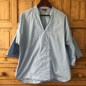 Vince Camuto XL Bell Sleeve Blue Blouse